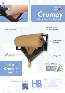 Crumpy, Abroller, Papier, Füllpapier